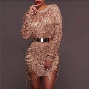 Irregular high-low slit Long Sleeve dress-tunic💜